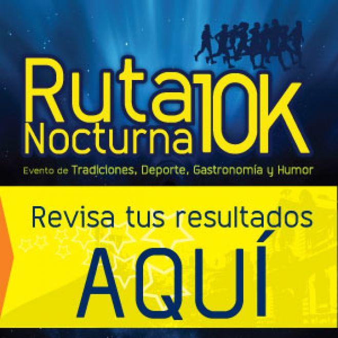 RESULTADOS RUTA NOCTURNA 10K.